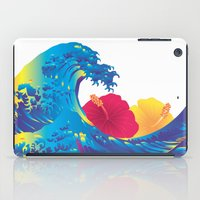 hokusai iPad Cases featuring Hokusai Rainbow & Hibiscus_YR by FACTORIE