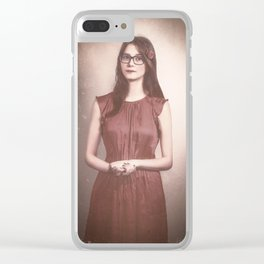 Fine Art Retouched | Photography of a Beautiful Woman | Lady In Red Clear iPhone Case