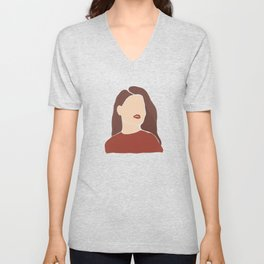 Abstract Woman Unisex V-Neck