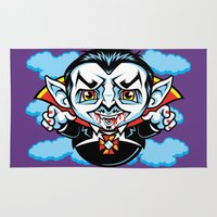 dracula Area & Throw Rugs featuring Cunt Dracula by harebrained