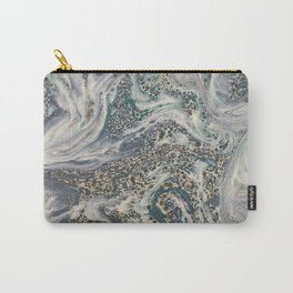 Metallic Marbled Agate Carry-All Pouch