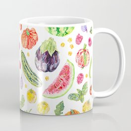 Summer Harvest Pattern White Coffee Mug
