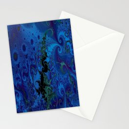 Dance Of The Seahorse King Blue Stationery Cards