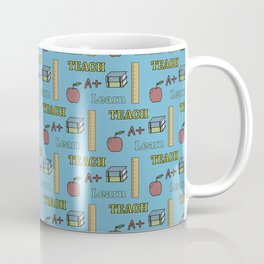 Teacher, Learn, Pattern Coffee Mug