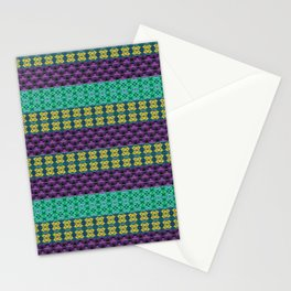 Mardi Gras Colors Stationery Cards