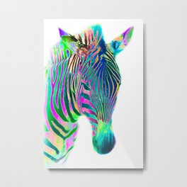 Freaky Zebra1 Metal Print