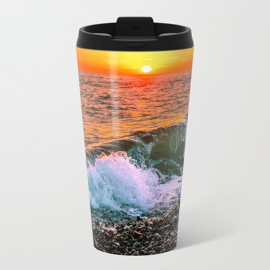 Sunset splash Metal Travel Mug