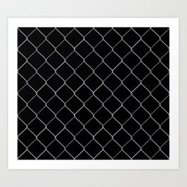 Black Chainlink Art Print