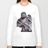 master chief Long Sleeve T-shirts featuring Master Chief Pen Drawing by DeMoose_Art