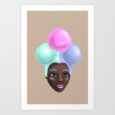 Miss IceCream Art Print