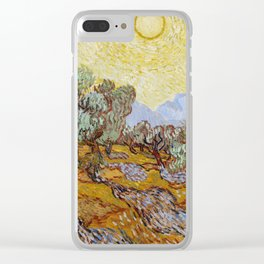 Vincent Van Gogh Olive Trees Clear iPhone Case