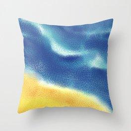 Sea, sand and surf Throw Pillow