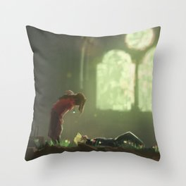 Flowers Blooming in the Church Throw Pillow