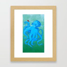 Octo Love Against the Odds Framed Art Print