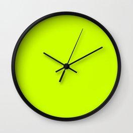 Slime Green Creepy Hollow Halloween Wall Clock