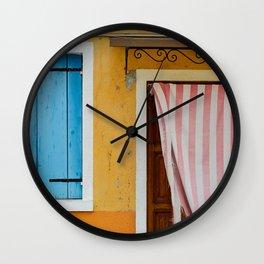 Colors of Burano Italy #1 Wall Clock