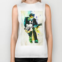 chuck Biker Tanks featuring chuck berry by manish mansinh