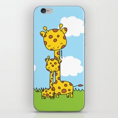 Giraffe Hugs iPhone Skin