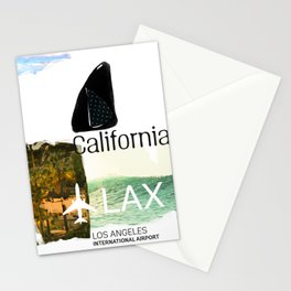 California. Lax. airport code. Surfing Stationery Cards