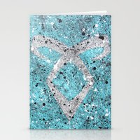 the mortal instruments Stationery Cards featuring Mortal Instruments Angelic Rune by Herk Designs