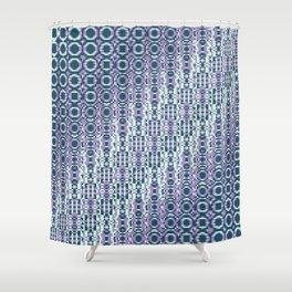 "Cos(a × (n × j^2 + k × i^2)) × 0.7 [""70s Pattern""] - [PIXEL ZOOM] Shower Curtain"