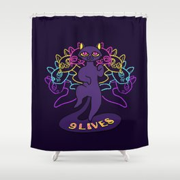 Cats have nine lives Shower Curtain
