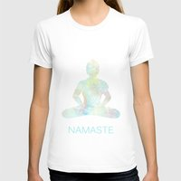 namaste T-shirts featuring Namaste by Berengere Ducoms