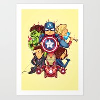 avenger Art Prints featuring The Avenger by rendhy wahyu