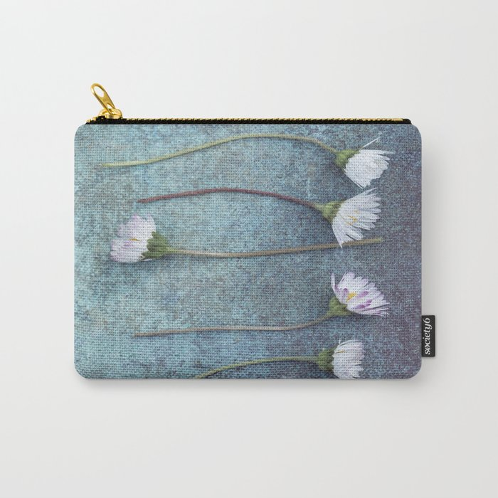 Daisies in a row Carry-All Pouch