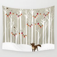 jon snow Wall Tapestries featuring December by Kakel