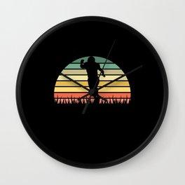 4 football retro sunset vintage Wall Clock