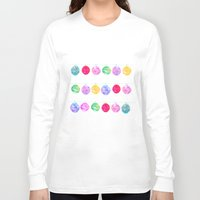 lanterns Long Sleeve T-shirts featuring Lanterns by Kara Hayley