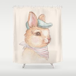 Bunny With Hat Shower Curtain