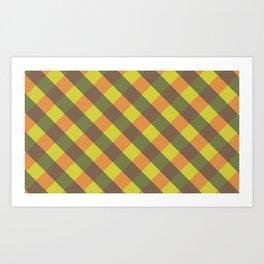 bright fall plaid Art Print