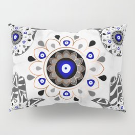 Mandala Evil Eye Hamsa Hand Pillow Sham