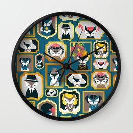 Cats wall of fame Wall Clock