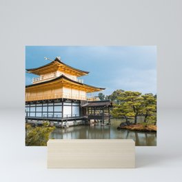 Magnificent Golden Pavilion in Kyoto, Japan Mini Art Print