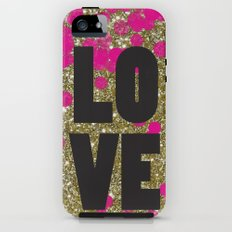 Love in Glitter Tough Case iPhone (5, 5s)