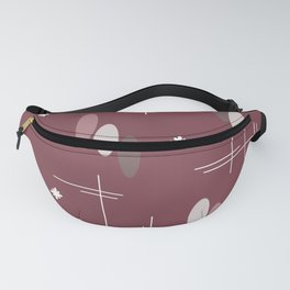 Ovals and Starbursts Colorful 6 Fanny Pack