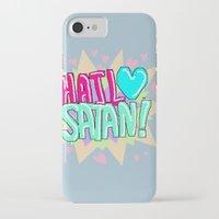 satan iPhone & iPod Cases featuring HAIL ♥ SATAN! by Adrian Trenteseaux