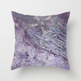 Purple-Starfish Throw Pillow