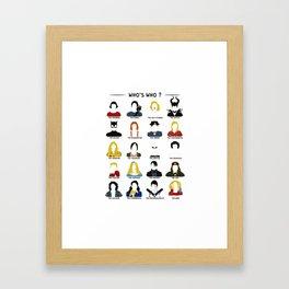 Who's who ? Framed Art Print