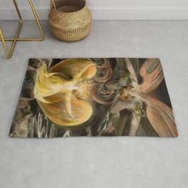 """William Blake """"The Great Red Dragon and the Woman Clothed with the Sun"""" Rug"""