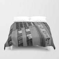 radio Duvet Covers featuring Radio City by MikeMartelli