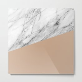 Marble and hazelnut color Metal Print