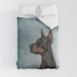Drawing Doberman dog  6 Comforters