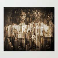 sex and the city Canvas Prints featuring Sex in the city by WDeluxe
