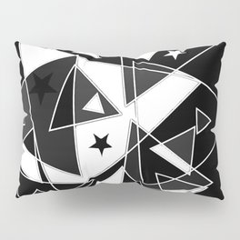 Triangles in black and white Pillow Sham