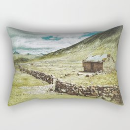 Little House in the Peruvian Andes Rectangular Pillow