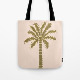 Gold Palm Tree Tote Bag